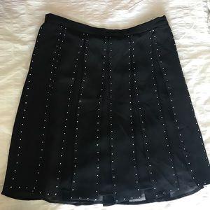 MICHAEL Michael Kors Black fringe skirt